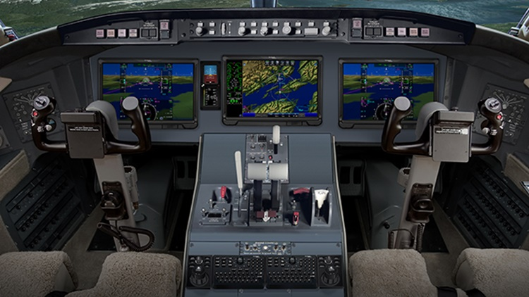 Challenger 604 featuring Rockwell Collins integrated avionics