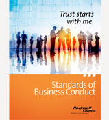 Cover of Rockwell Collins Standards of Business Conduct