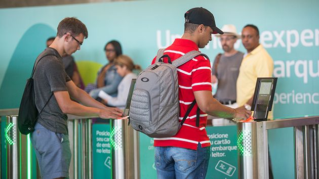 Passengers arriving for the Rio summer games benefit from new airport technology
