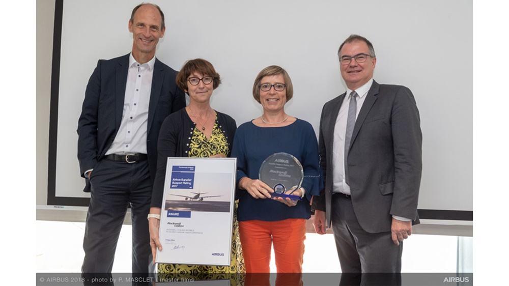 Rockwell Collins recognized by Airbus as a top performer for