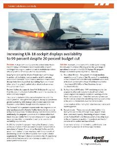 Increasing F/A-18 cockpit displays availability to 99 percent