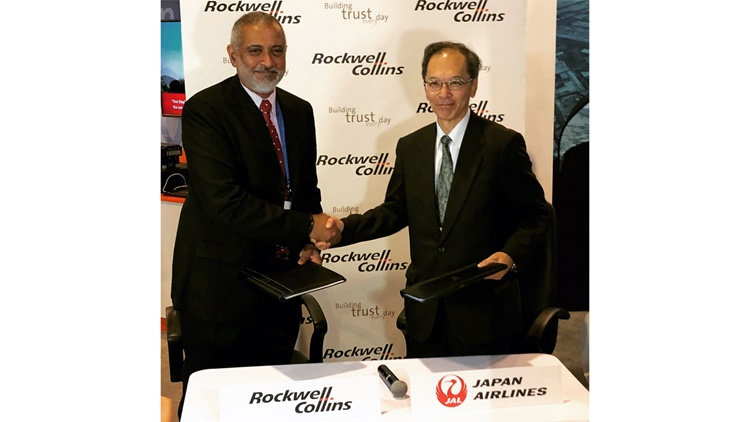 Japan Airlines and Rockwell Collins