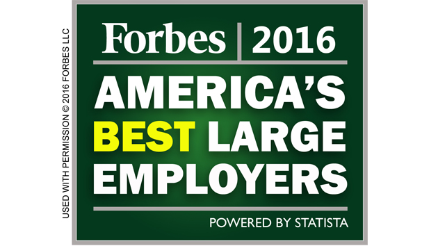 Forbes 2016 AMERICA'S BEST LARGE EMPLOYERS