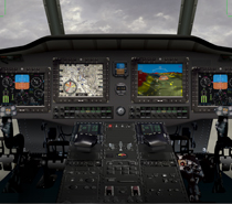 Rockwell Collins Common Avionics Architecture System (CAAS) w/synthetic vision technology
