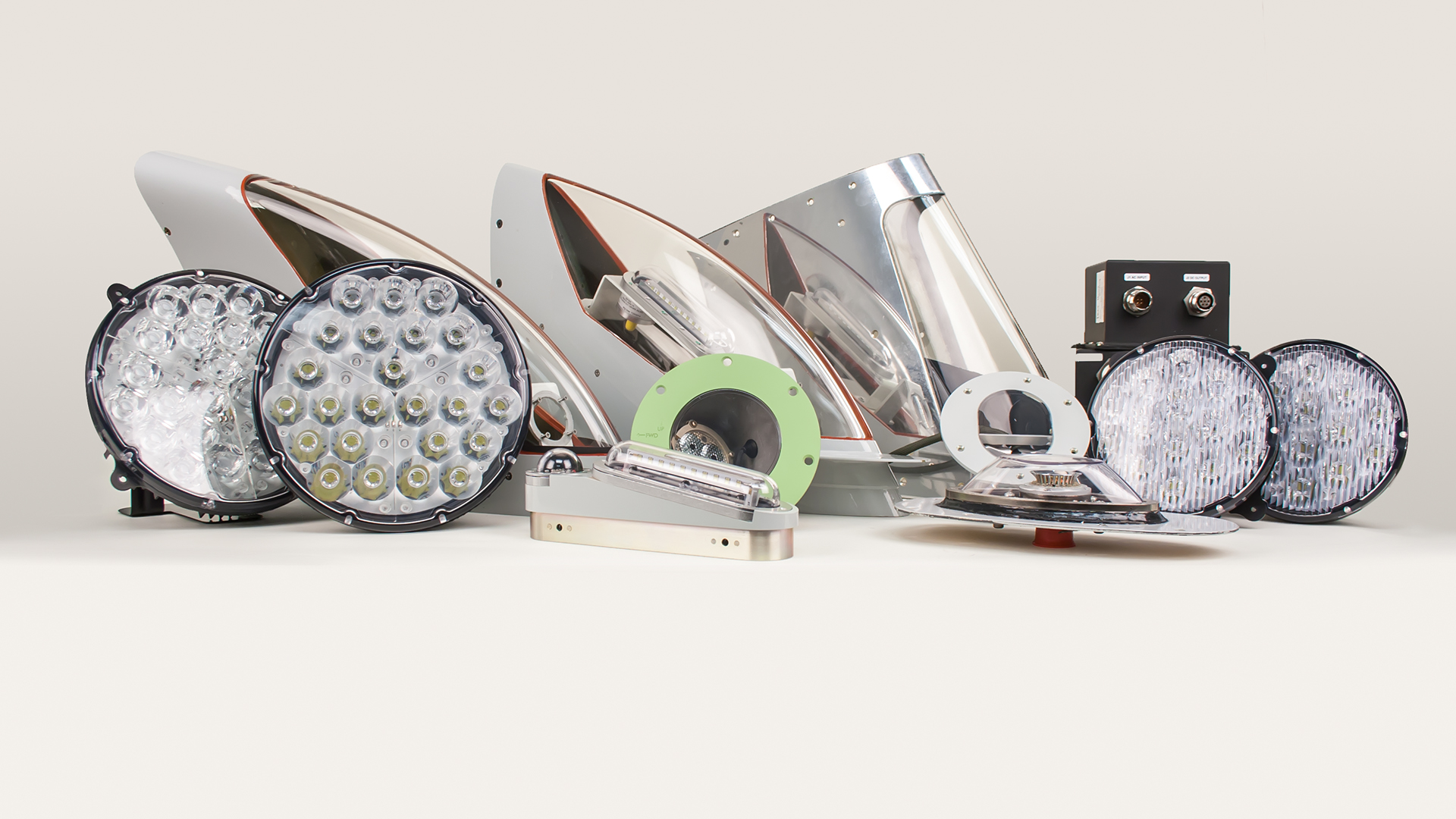 A selection of exterior lighting products.