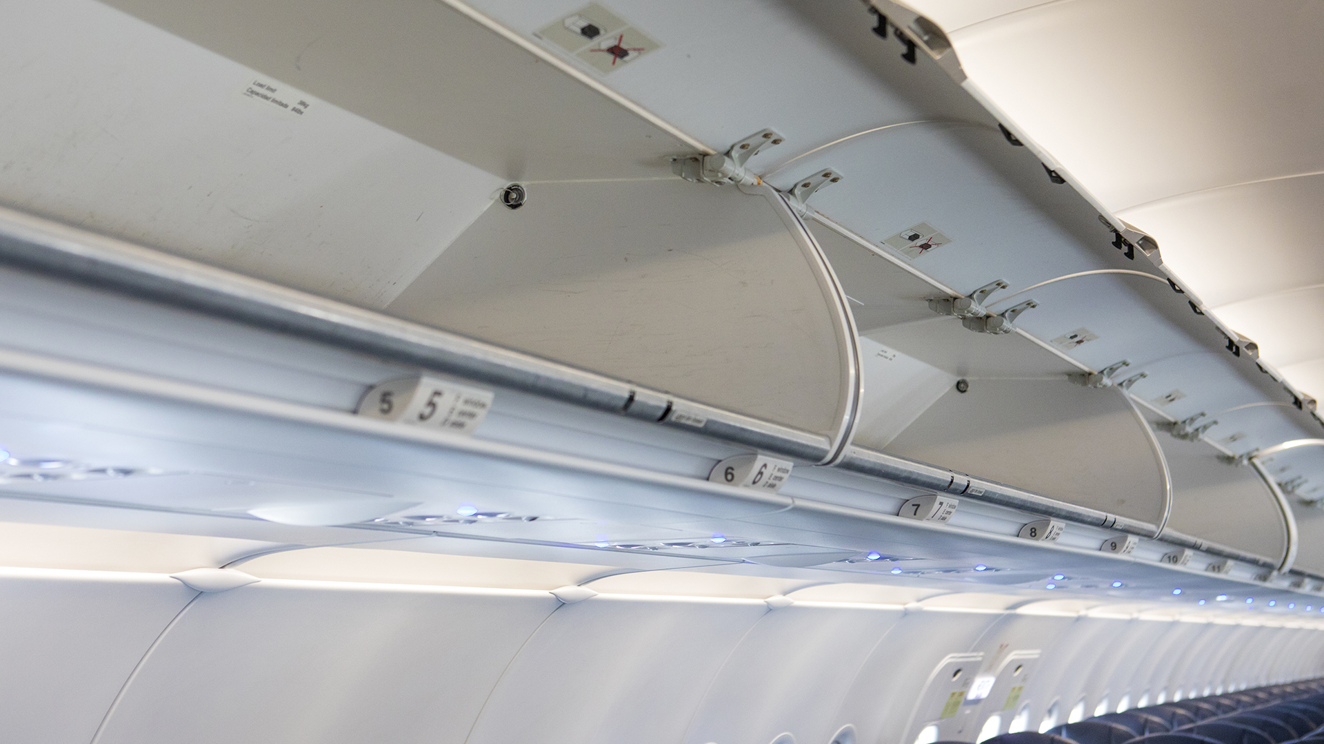 Interior of commercial aircraft