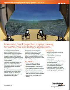 Family of front projection display systems providing immersive training for commercial and military applications.