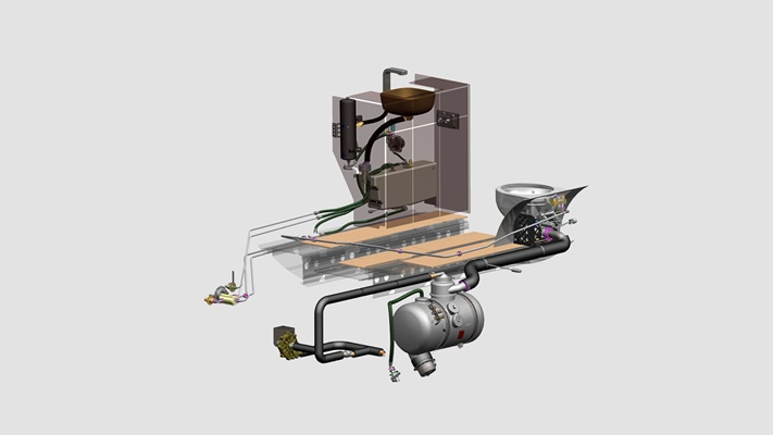 Vacuum waste system assembly
