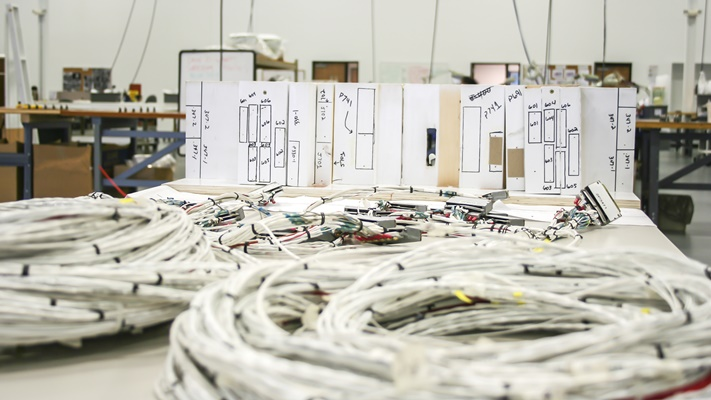 Wire harnessing mockup