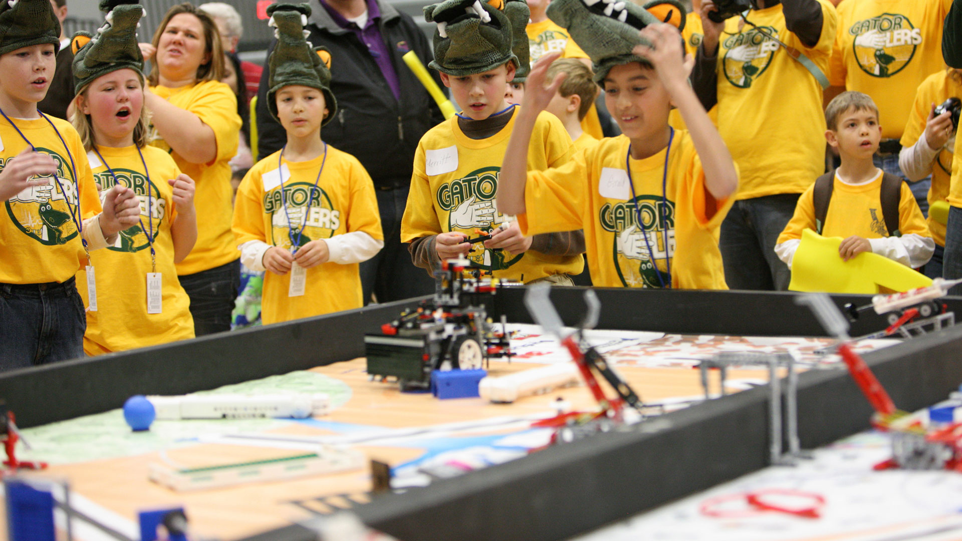 Kids at Robotics competition