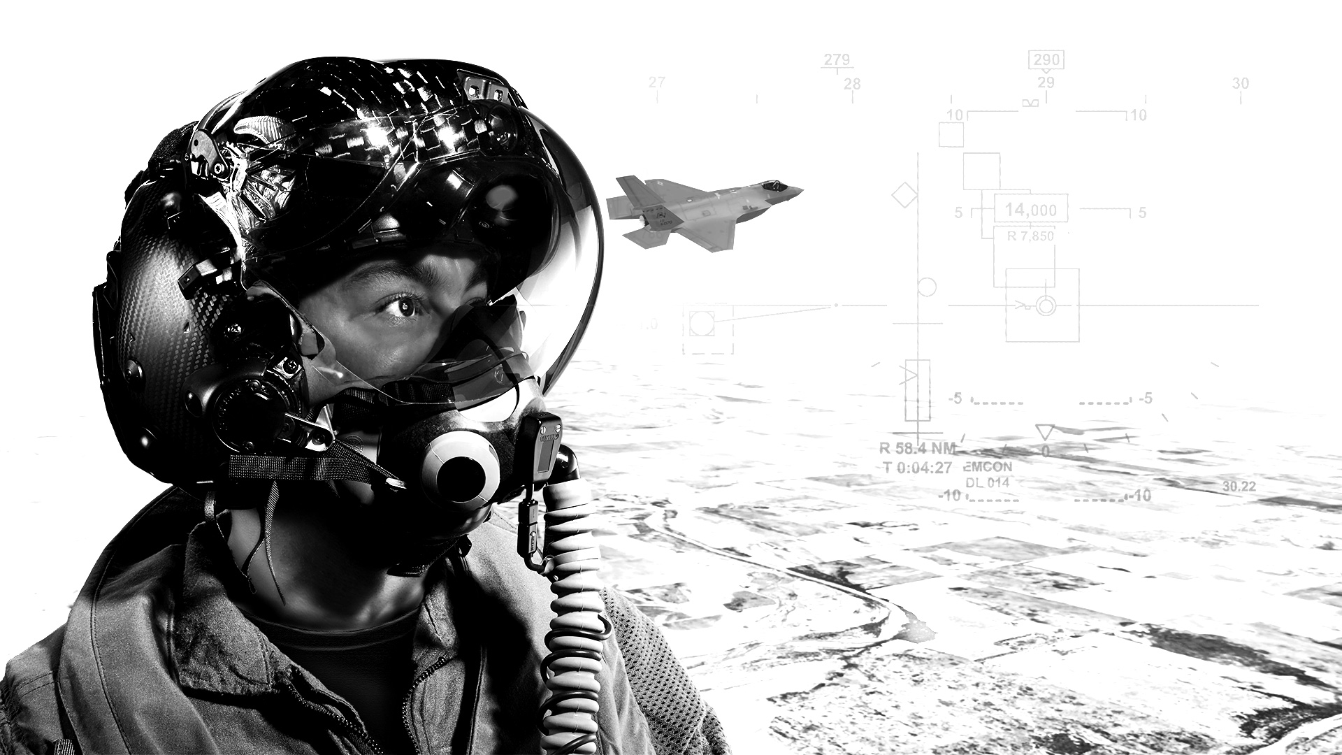 F-35 helmet with symbology