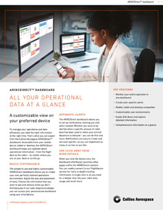 ARINCDirect dashboard datasheet
