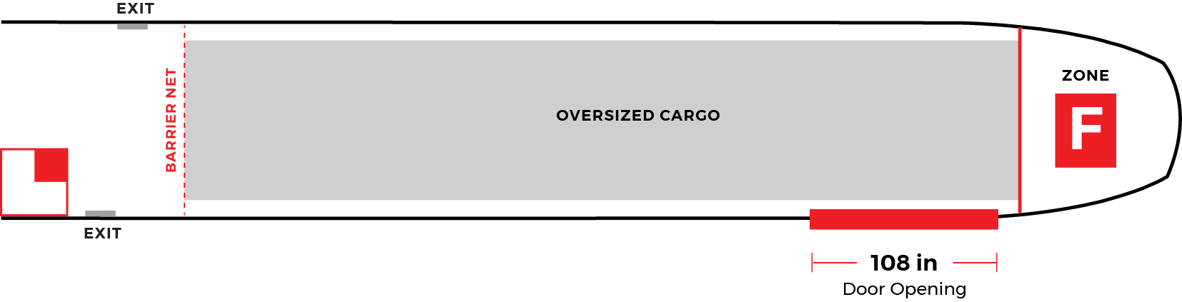 Dash 8 oversized cargo configuration