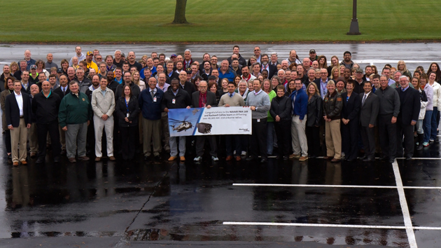 Members of the ARC-210 team recently celebrated 40,000 ARC-210 radio deliveries in Cedar Rapids, Iowa.