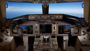 767 flight deck