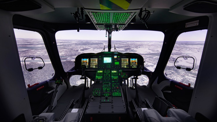 Helicopter flight deck