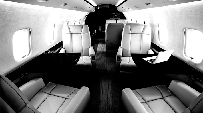 A business jet with 3X Nano lighting