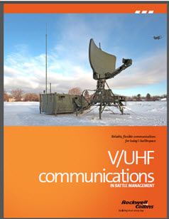 Image of large receiver set-up in a snowy field