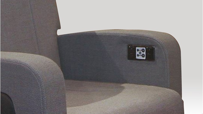 Aircraft seat with a control