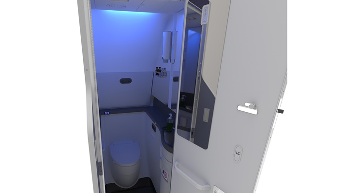 LED aircraft lavatory lighting