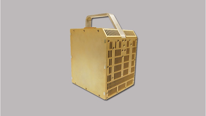 Large gold box with handle