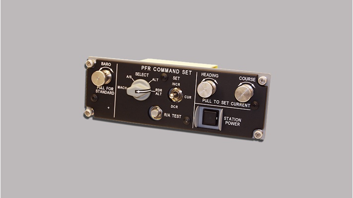 front of black control box