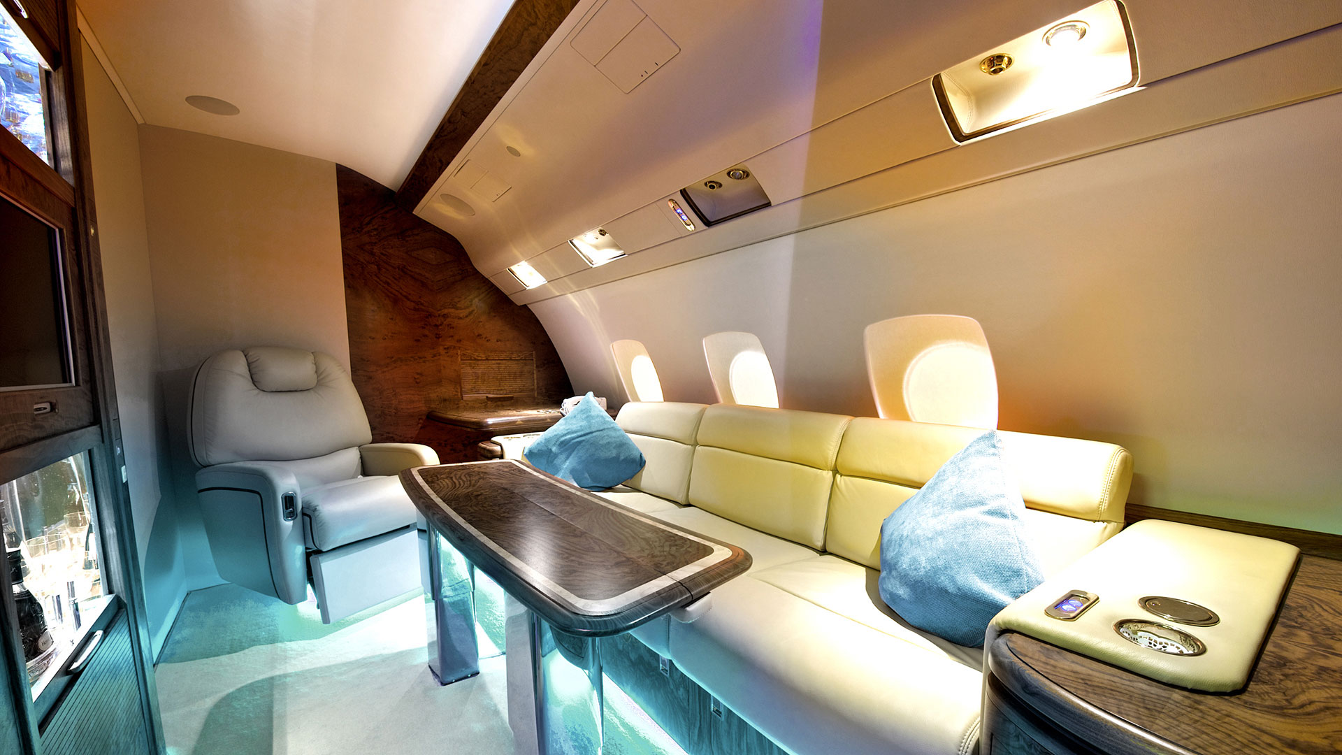 VVIP interior business jet
