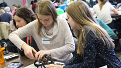 Introducing middle school girls to engineering at Rockwell Collins