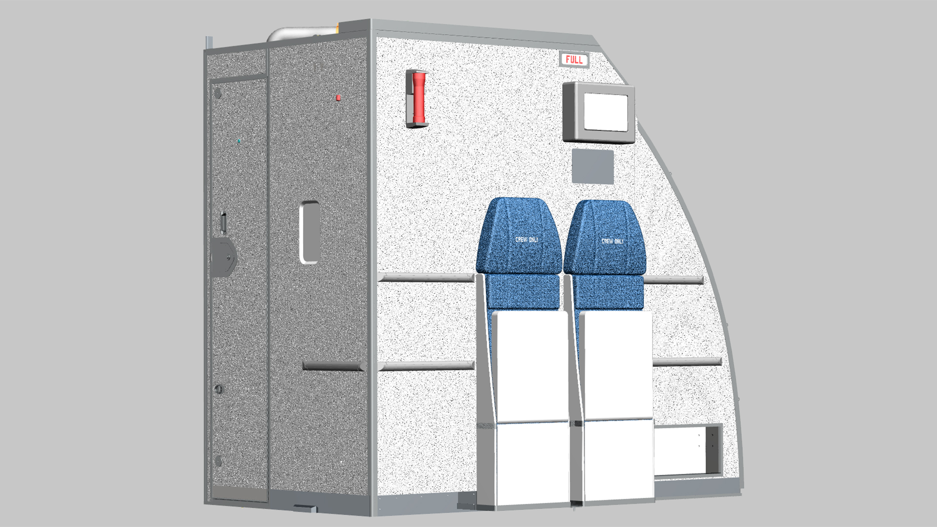 Crew rest with two external seats