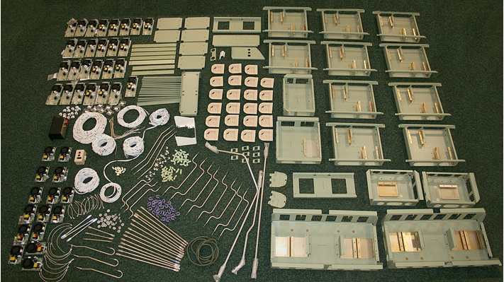Equipment trays and components
