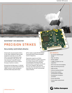Image of NavStrike GPS receiver and a missile taking off