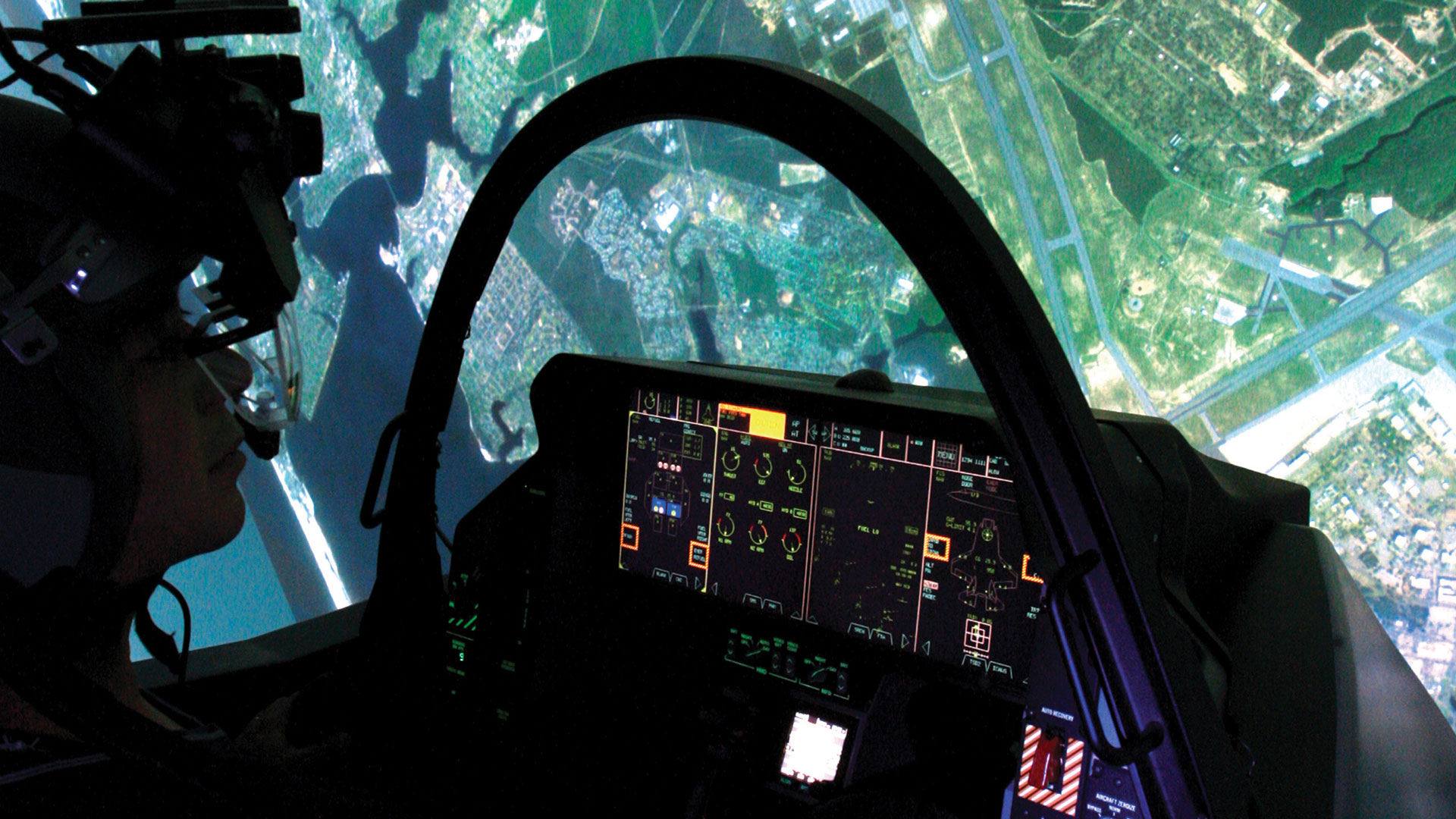 Image of man in a simulator