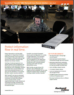 Soldier with headset on in front of computer screens.