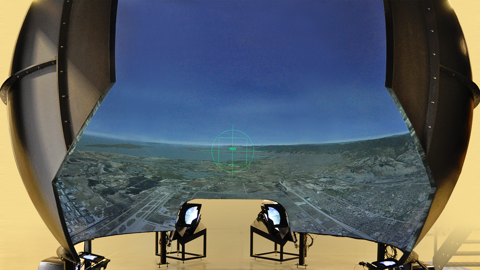 Image of terrain from the inside of the Spectraview dome