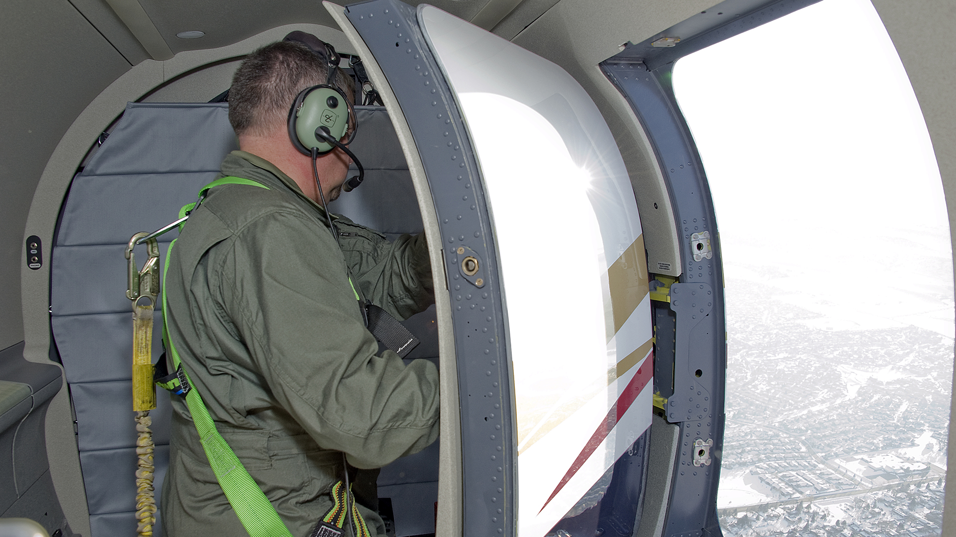 A custom air-operable aircraft door