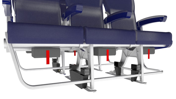 Aircraft cabin seats with USB Passenger Power System