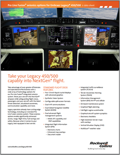 Pro Line Fusion Embraer Legacy 450/500 Data sheet