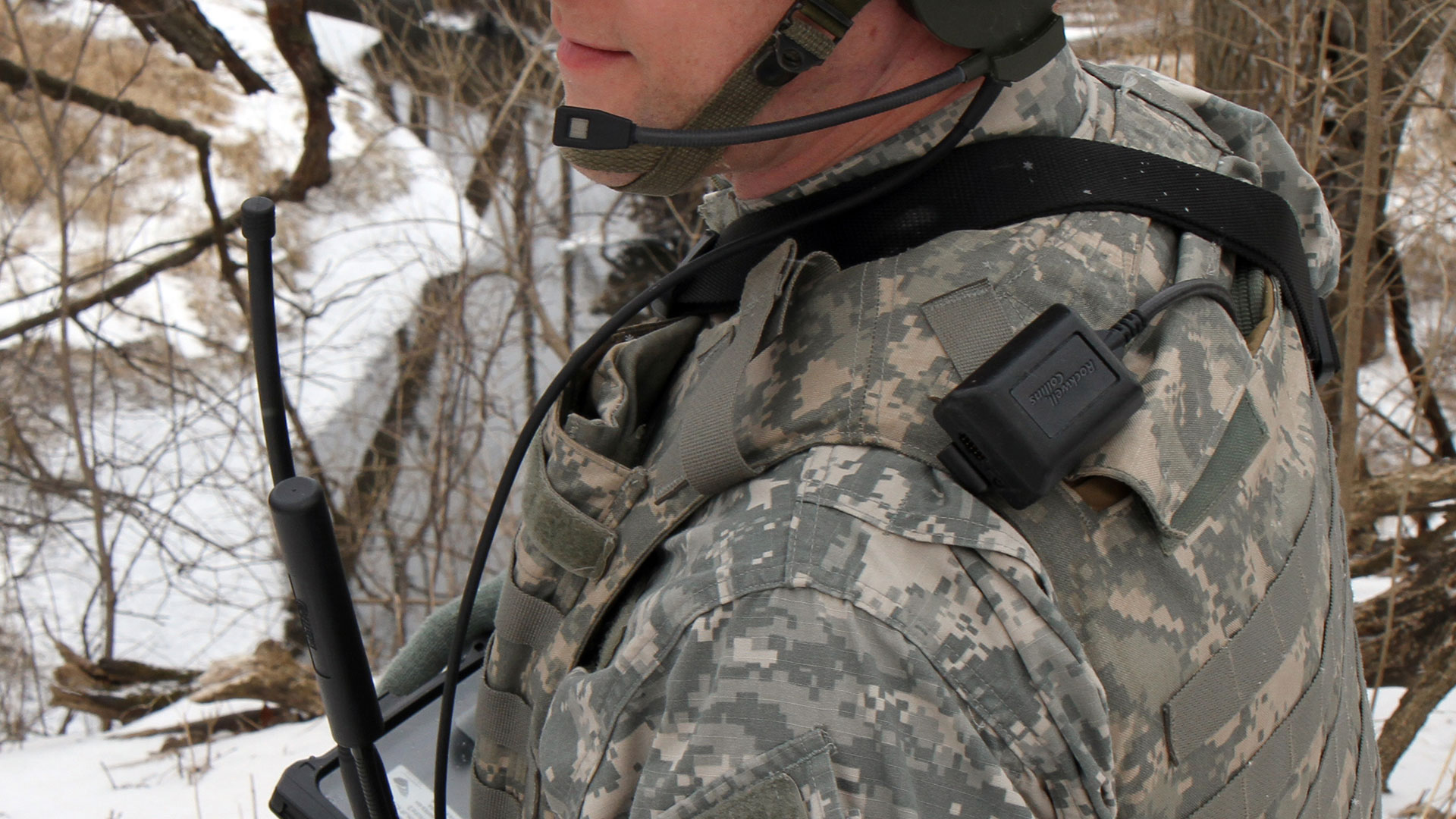 Soldier wearing RSR