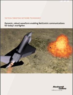 Image of a fighter jet flying over a bomb drop on the front of the TTNT data sheet.
