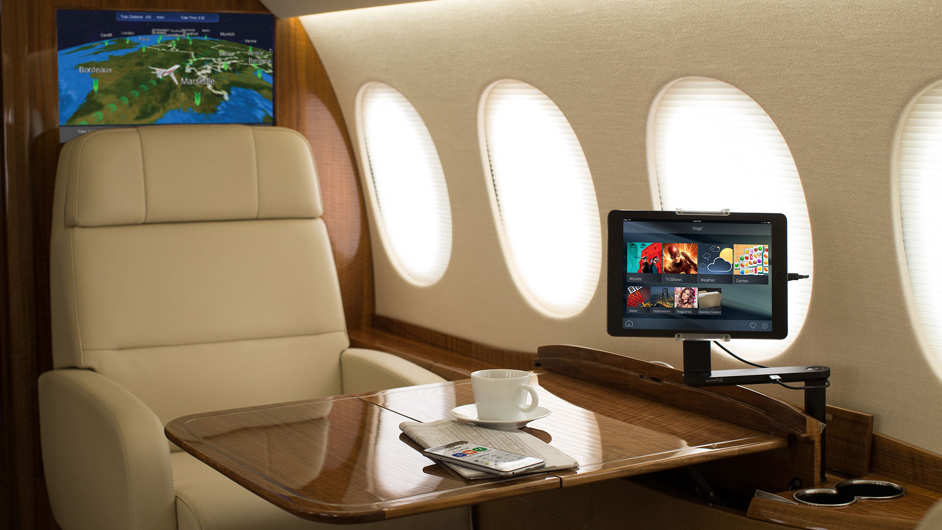 Business Jet Cabin with Venue